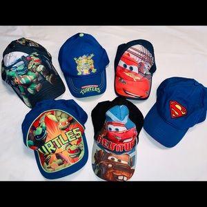 Set of (6) Toddler caps -Ninja turtle, ⚡️ McQueen
